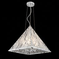 James Moder 96718S00 Pyramid Collection Silver Drop Ceiling Lighting