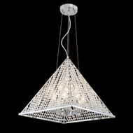 James Moder 96718S11 Pyramid Collection Silver Ceiling Light Pendant