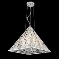 James Moder 96718S22 Pyramid Collection Silver Ceiling Pendant Light