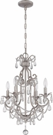 Craftmade 1054C-AS Antique Silver Mini Chandelier Lighting
