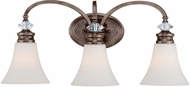 Craftmade 26703-MB Boulevard Mocha Bronze 3-Light Bath Lighting Fixture