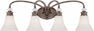Craftmade 26704-MB Boulevard Mocha Bronze 4-Light Bathroom Light Fixture