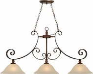 Craftmade 28073-SPZ Seville Spanish Bronze Kitchen Island Light Fixture
