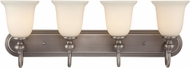 Craftmade 28504-AN Willow Park Antique Nickel 4-Light Bathroom Vanity Light Fixture