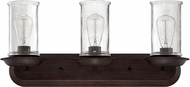 Craftmade 36103-ABZ Thornton Aged Bronze and Natural Rope 3-Light Bath Lighting Sconce