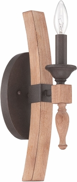 Craftmade 38161-JBZDO Glenwood Aged Bronze/Distressed Oak Wall Sconce Lighting