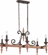 Craftmade 38176-JBZDO Glenwood Aged Bronze/Distressed Oak Kitchen Island Light Fixture