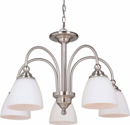 Craftmade 39925-BNK Brighton Brushed Polished Nickel Ceiling Chandelier