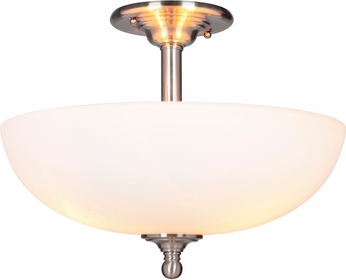 Craftmade 39953-BNK Brighton Brushed Polished Nickel Flush Mount Light Fixture
