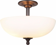 Craftmade 39953-ESP Brighton Espresso Flush Mount Lighting Fixture