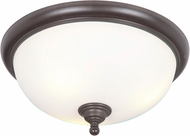 Craftmade 39983-ESP Brighton Espresso Flush Mount Ceiling Light Fixture