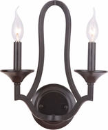 Craftmade 40262-MBK Gabriella Matte Black Wall Light Sconce