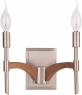 Craftmade 40362-BNKWB Tahoe Brushed Nickel / Whiskey Barrel Wall Sconce Light