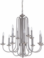 Craftmade 40712-PLN Avery Contemporary Polished Nickel Chandelier Light