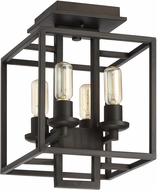 Craftmade 41554-ABZ Cubic Modern Aged Bronze Brushed Ceiling Light
