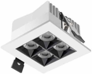 Jesco BL-NR4SL-12W Modern LED Recessed Lighting Micro Linear 4 Aperture Square Recessed Downlight
