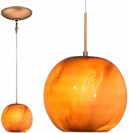 Jesco KIT-QAP401-CABZ Envisage VI Contemporary Caramel / Bronze Xenon Mini Pendant Lighting