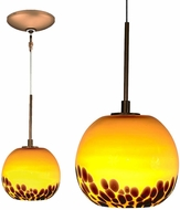 Jesco KIT-QAP406-AMBZ Envisage VI Contemporary Amber / Bronze Xenon Mini Lighting Pendant
