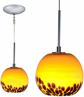 Jesco KIT-QAP406-AMSN Envisage VI Modern Amber / Satin Nickel Xenon Mini Hanging Lamp