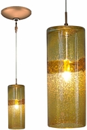 Jesco KIT-QAP408-AMBZ Envisage VI Modern Amber / Bronze Xenon Mini Hanging Light