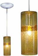 Jesco KIT-QAP408-AMCH Envisage VI Modern Amber / Chrome Xenon Mini Pendant Light Fixture