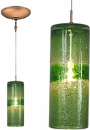 Jesco KIT-QAP408-GNBZ Envisage VI Contemporary Green / Bronze Xenon Mini Hanging Pendant Lighting