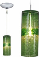 Jesco KIT-QAP408-GNSN Envisage VI Contemporary Green / Satin Nickel Xenon Mini Pendant Hanging Light