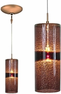 Jesco KIT-QAP408-PUBZ Envisage VI Modern Purple / Bronze Xenon Mini Hanging Light Fixture