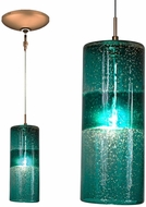 Jesco KIT-QAP408-TEBZ Envisage VI Modern Teal / Bronze Xenon Mini Ceiling Light Pendant