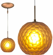 Jesco KIT-QAP409-AMBZ Envisage VI Modern Amber / Bronze Xenon Mini Drop Lighting Fixture