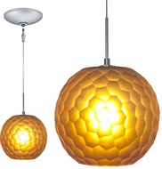 Jesco KIT-QAP409-AMSN Envisage VI Contemporary Amber / Satin Nickel Xenon Mini Pendant Lighting