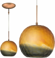 Jesco KIT-QAP409-BZSMBZ Envisage VI Contemporary Bronze / Bronze Xenon Mini Pendant Light