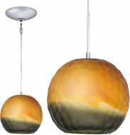 Jesco KIT-QAP409-BZSMSN Envisage VI Contemporary Bronze / Satin Nickel Xenon Mini Pendant Lamp