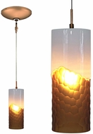 Jesco KIT-QAP410-WHAMBZ Envisage VI Modern White / Bronze Xenon Mini Hanging Lamp