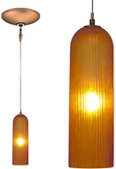 Jesco KIT-QAP411-AMBZ Envisage VI Contemporary Amber / Bronze Xenon Mini Pendant Lighting Fixture