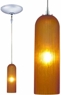 Jesco KIT-QAP411-AMCH Envisage VI Modern Amber / Chrome Xenon Mini Hanging Pendant Lighting