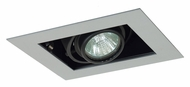 Jesco MG1650-1ESB Double Gimbal Silver/Black Finish New Construction Recessed Lighting
