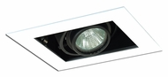 Jesco MG1650-1EWB Double Gimbal 6 Inch Wide Black/White New Construction Recessed Lighting Fixture
