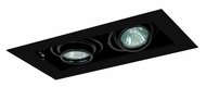 Jesco MG1650-2EBB Double Gimbal New Construction 6 Inch Wide 2 Lamp Recessed Light