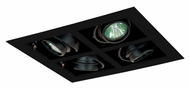 Jesco MG1650-4SEBB Double Gimbal 4 Lamp Square New Construction Recessed Light Fixture - Black
