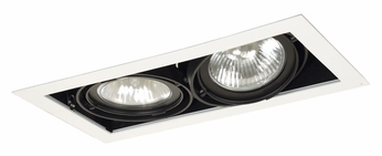 Jesco MGP30-2WB Double Gimbal 14 Inch Wide New Construction Black/White Recessed Lighting Fixture