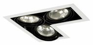 Jesco MGP30-3LWB Double Gimbal 3 Lamp L-Corner Black/White New Construction Recessed Lighting