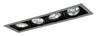 Jesco MGP30-4SB Double Gimbal 4 Lamp Silver/Black New Construction Recessed Light Fixture
