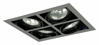 Jesco MGP30-4SSB Double Gimbal Silver/Black 14 Inch Wide Recessed Light Fixture