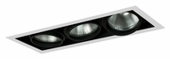 Jesco MYP38-3WB Adjustable Yoke 23 Inch Long Black/White 3 Lamp Recessed Lighting Fixture