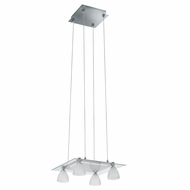 Jesco PD304-4 Slantus Modern Satin Nickel Finish 72  Tall Xenon 4 Light Pendant Light