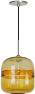 Jesco PD407-AMBN Envisage VI Contemporary Amber / Brushed Nickel Mini Ceiling Pendant Light