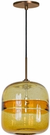 Jesco PD407-AMBZ Envisage VI Modern Amber / Bronze Mini Drop Ceiling Light Fixture