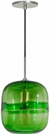 Jesco PD407-GNBN Envisage VI Contemporary Green / Brushed Nickel Mini Drop Lighting Fixture