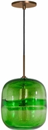 Jesco PD407-GNBZ Envisage VI Contemporary Green / Bronze Mini Pendant Lighting